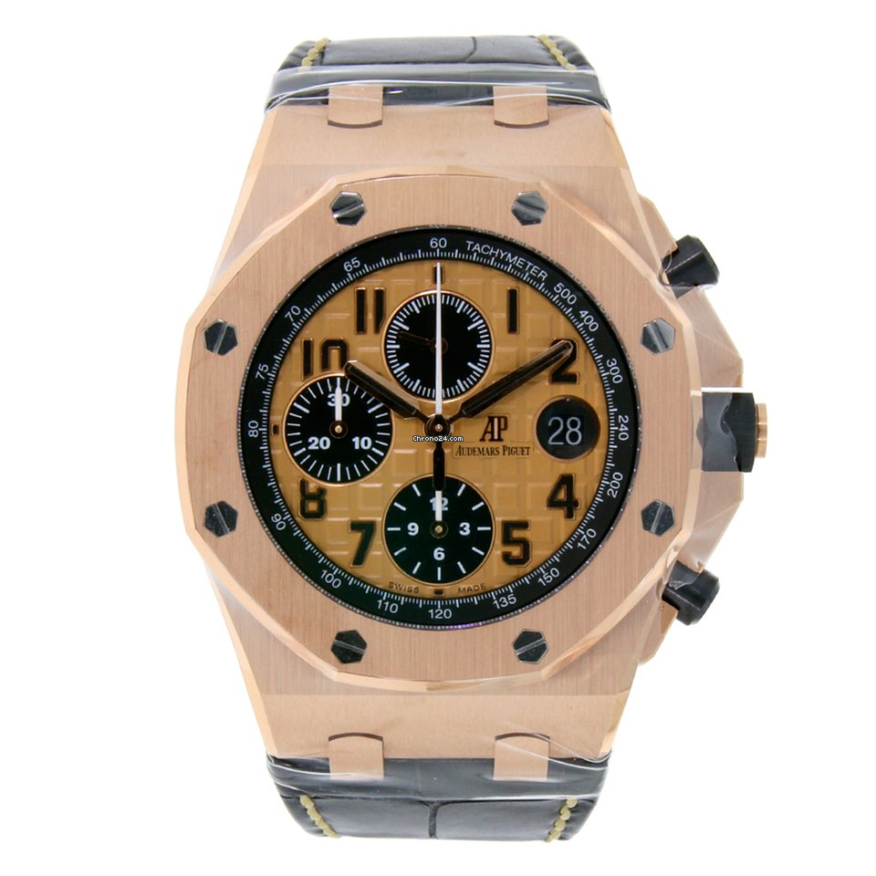 Audemars piguet royal oak offshore chronograph 42mm rose gold for 36 999 for sale from a for Royal oak offshore rose gold 42mm