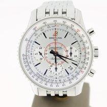 Breitling Montbrillant 01 Stahl 40mm Weiß Keine Ziffern