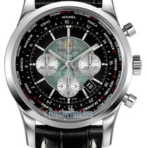 Breitling Transocean Chronograph Unitime Steel 46mm Black United States of America, New York, Airmont