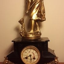 AD MOUGIN DEUX MEDAILLES (French Mantle Clock) French Mantle...