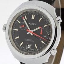 Kelek Vintage Automatic Chronograph  Buren 15 JRGK Tritium Dial