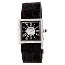 Chanel White gold Quartz Black Roman numerals 23mm pre-owned Mademoiselle