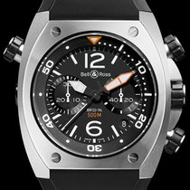 Bell & Ross BR 02 new Automatic Chronograph Watch only BR02-CHR-BL-ST
