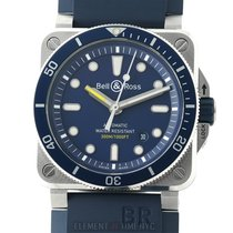 Bell & Ross BR 03-92 Steel new Automatic Watch with original box and original papers BR0392-D-BU-ST/SRB