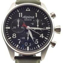 Alpina Startimer Pilot Steel 44mm Black Arabic numerals