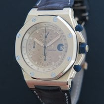 Audemars Piguet Royal Oak Offshore Chronograph tweedehands 42mm Goud Chronograaf Datum Krokodillenleer