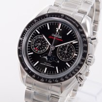 Omega Speedmaster Professional Moonwatch Moonphase Steel 44mm Black No numerals