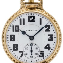 Ball Watch pre-owned 1936 Yellow gold 51mm Arabic numerals Manual winding Watch only
