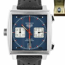 TAG Heuer Steel Automatic Blue 39mm pre-owned Monaco Calibre 11
