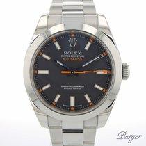 Rolex Milgauss Stahl 40mm Schwarz