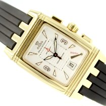 Jaeger-LeCoultre Yellow gold Automatic Champagne Arabic numerals 28mm pre-owned Reverso Duoface
