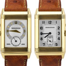 Jaeger-LeCoultre Yellow gold Automatic Silver 26mm pre-owned Reverso Duoface