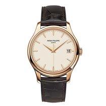 Patek Philippe Calatrava 39mm Rose Gold Watch Brown Leather Strap