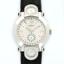 DeLaneau White Gold 3-Time Zones Automatic Watch