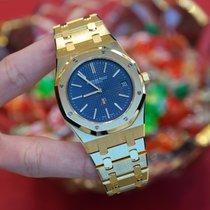 Audemars Piguet Royal Oak Jumbo Yellow gold 39mm Blue