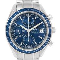 Omega Speedmaster Date Blue Dial Chrono Watch 3212.80.00 Box...