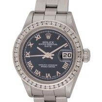 Rolex : Ladies Date :  79240 :  Stainless Steel : blue Roman dial