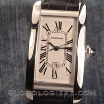 Cartier – Tank Americaine Automatic Ref.1726 18kt. White Gold...