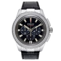 Zenith White gold Automatic 45.5mm new El Primero Stratos Flyback