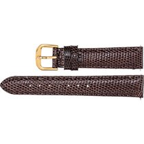 "EZ-Change Brown Leather Watch Band Lizard Padded 20mm 7.5""..."