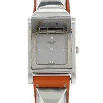 Hermès Médor Steel 23mm Silver No numerals