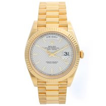 Rolex Day-Date 40 Yellow gold 40mm Silver United States of America, Texas, Dallas
