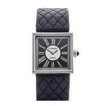 Chanel Platinum Quartz Black Roman numerals 22mm pre-owned Mademoiselle