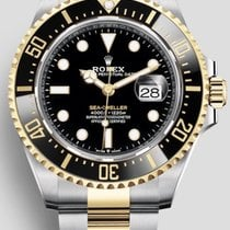 Rolex Sea-Dweller Gold/Steel 43mm Black No numerals
