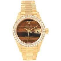 ロレックス イエローゴールド 自動巻き Rolex Tiger Eye 18K Yellow Gold Diamond President Datejust 新品