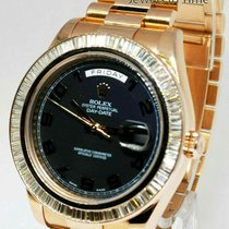 Rolex Day-Date II Or rose 41mm Brun Arabes