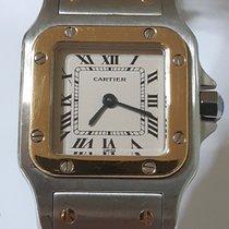 Cartier Santos Galbée Gold/Steel 24mm White Roman numerals