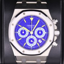 Audemars Piguet Titanium Automatic Blue No numerals 39mm pre-owned Royal Oak Chronograph