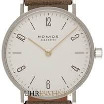 NOMOS Tangente 33 Staal 32.8mm Wit