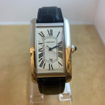 Cartier White gold Automatic White pre-owned Tank Américaine