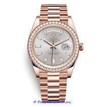 Rolex Day-Date II Or rose 40mm Argent