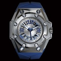 Linde Werdelin Oktopus BluMoon Titanium 46mm Transparent Arabic numerals