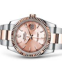 Rolex Datejust 36 pink dial index Unworn full set 2017