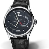Oris Artelier Calibre 112 01 112 7726 4055-Set 1 23 72FC Oris 112 CALIBRE Blu Nero new