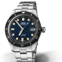 Oris Divers Sixty Five 01 733 7720 4055-07 8 21 18 Oris SIXTY-FIVE Blu Acciaio new