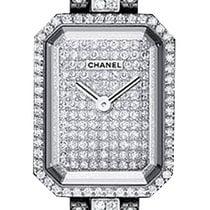 Chanel White gold Quartz 19.5mm new Première
