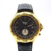 Chopard Yellow gold Quartz Black No numerals 31mm new Mille Miglia