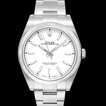 Rolex Oyster Perpetual 39 White Steel 39mm - 114300