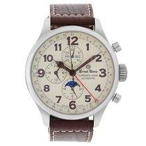 Ernst Benz Chronolunar GC10318 Stainless Steel Cream dial 47mm...