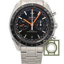 Omega Speedmaster Racing Master Co-Axial Stainless Steel Black...