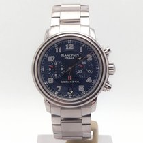 Blancpain Léman Fly-Back pre-owned 40mm Blue Chronograph Date Steel