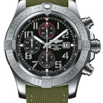 Breitling Super Avenger II new Automatic Chronograph Watch with original box A1337111/BC28-105W