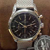 Breitling Transocean Chronograph Acero 43mm Negro Sin cifras