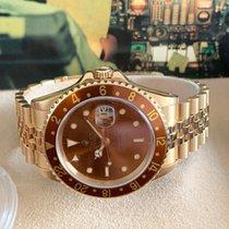 Rolex Жёлтое золото Автоподзавод Коричневый Без цифр 40mm новые GMT-Master II