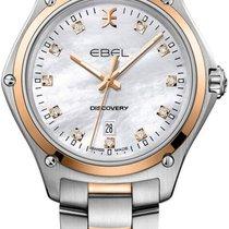 Ebel nouveau Quartz Sertissage de pierres précieuses et de diamants 33mm Or/Acier Verre saphir