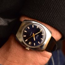 Poljot Steel Manual winding Blue No numerals 40mm pre-owned